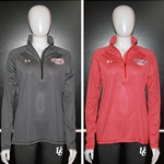 Ladies UA Stripe Tech 1/4 Zip