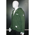 Mens Green Roots Full Zip Hoodie