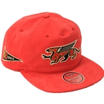 Gryphons Red Flat-brim Dad Hat