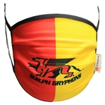 Red/Yellow - 2-Layer POLYGIENE Polyester Face Covering
