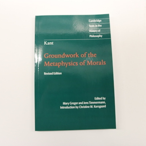 the groundwork of metaphysics of morals essay Published: mon, 5 dec 2016 grounding of the metaphysics of morals by immanuel kant argues for a priori basis for morality kant states that an action is moral only if it is good in itself.